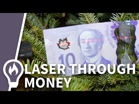 Plastic Banknotes and lasers