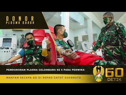 32 Perwira Mantan Secapa yang Menjadi Gelombang ke-5, Melakukan Pendonoran Plasma di RSPAD