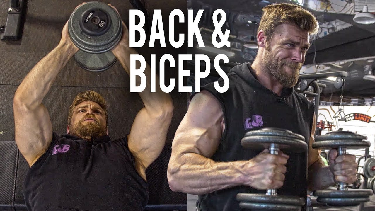 Back Biceps Dumbbell Only Workout At Home Or Gym Dumbbell Workout Plan P4d2