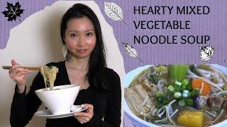 Hearty Mixed Vegatable Noodle Soup Recipe - Vegan & Gluten Free