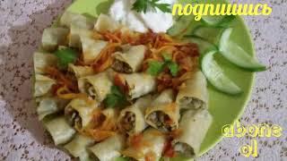 Уплетают находу/голубцы из теста/вкусный ужин/ узбекская кухня/ #рецепты #голубцы #тесто
