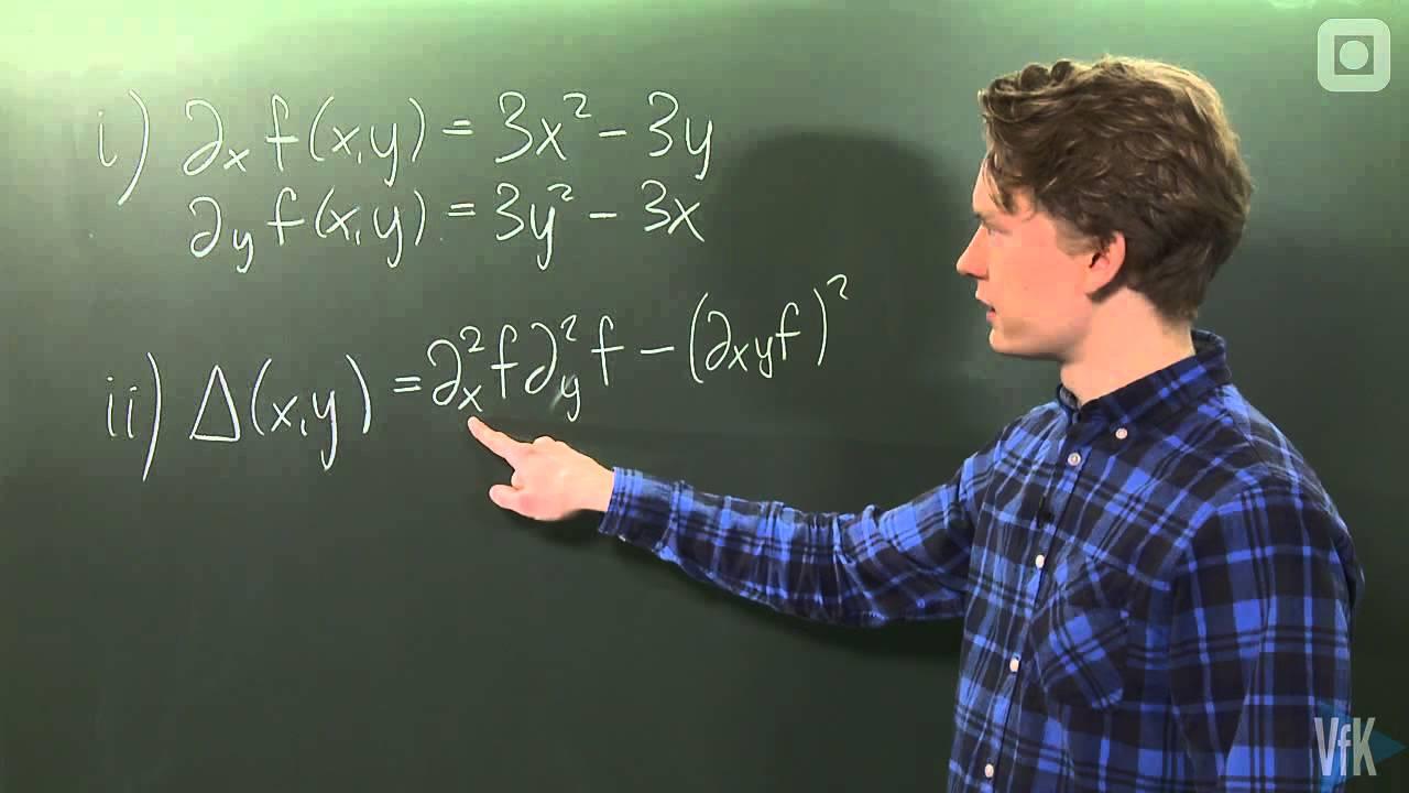 26: Øving 6 - Oppgave 4a (eksamen våren 2010) - Klassifisering av kritiske punkter