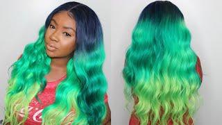 #DIY Unicorn/Mermaid Hair Color with 613 Blonde Hair | Easy Water Color Method |Westkiss