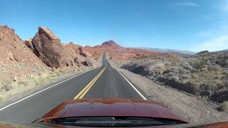 Valley of Fire State Park Tour in a Dodge Challenger