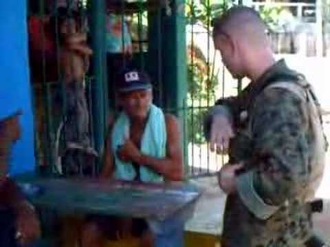Drunk Honduran talks to a Marine