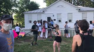 Black Lives Matter Protest In Schoolcraft Stops At Underground Railroad House