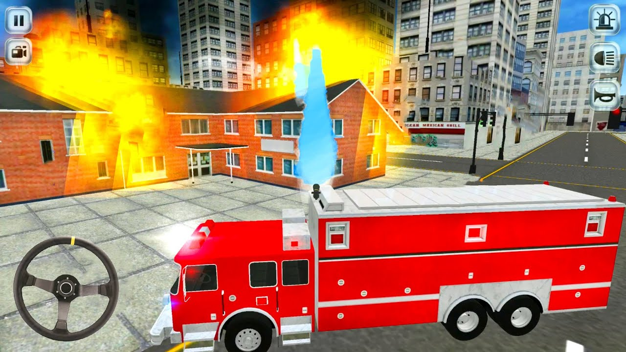 Top 3 Firetruck Driving - Emergency Firefighter Simulator #6 - Android Gameplay