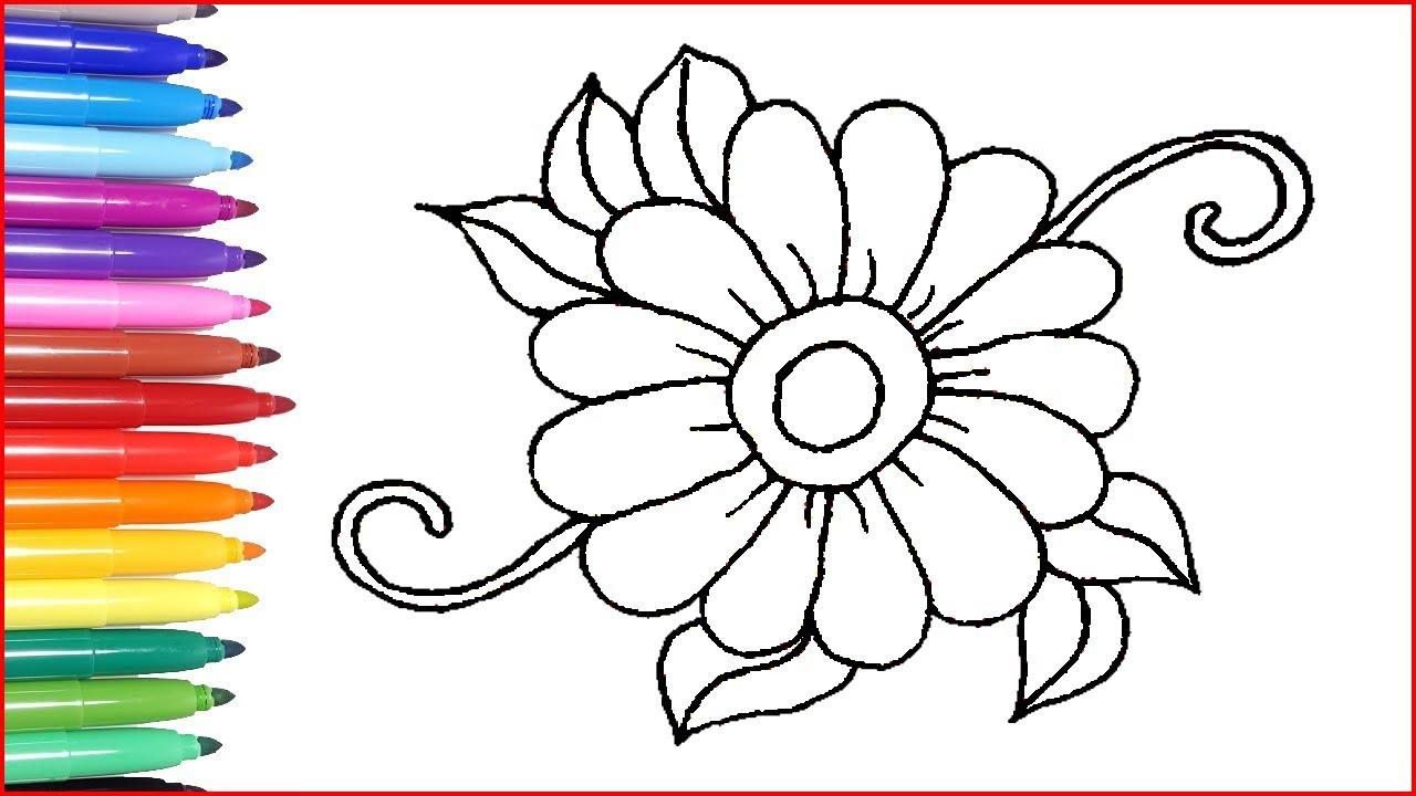 Blumen Ausmalbilder Einfache Blumenmalerei Fur Kinder Malvideos Youtube