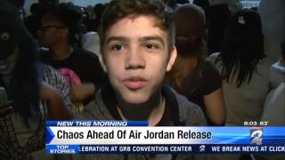Chaos at Houston area malls ahead of new Air Jordan release.