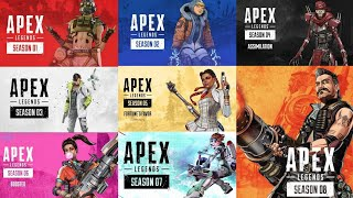 Apex Legends Season 1-8 All Cinematic Story Trailers | HD