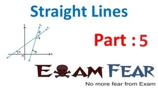 Maths Straight Lines part 5 (Forms of equation of lines- Horizontal,vertical) CBSE class 11