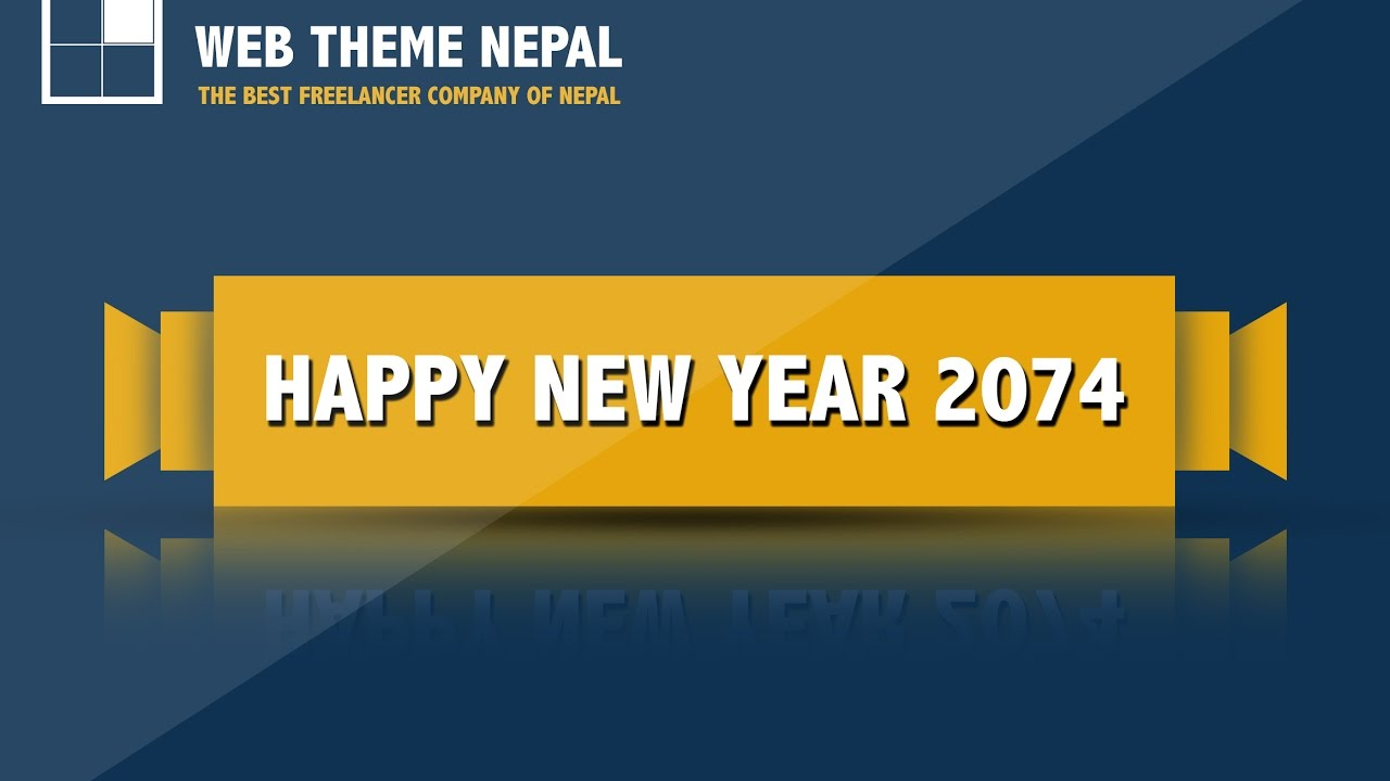 how to create simple new year banner on photoshop 2017 web theme nepal