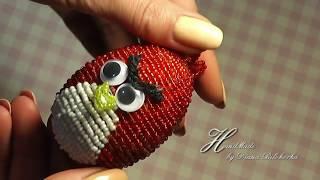 Пасхальное яйцо из бисера Angry Birds