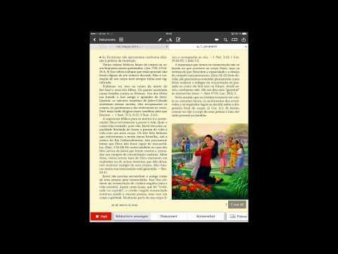 Como puxar publicações da JW.org para a iPad