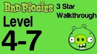 Bad Piggies - Level 4-7 3 Star Walkthrough Flight in the Night | WikiGameGuides