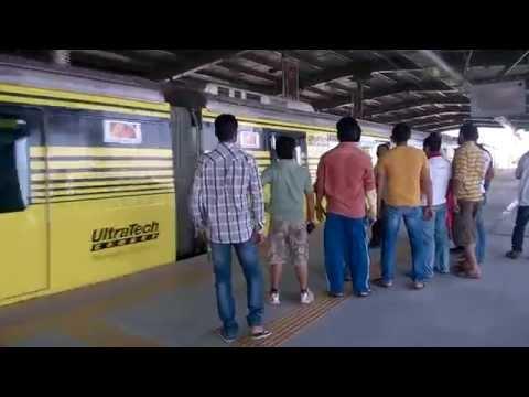 Reliance Mumbai Metro Arriving Jagruti Nagar Metro Station!!