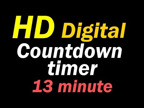 13 Minute Hd Digital Countdown Timer (Silence Mode) - YT