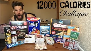 12000 Calorie Challenge Man VS Food - Italiano Cheat Day (ENG SUB)