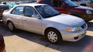2001 Toyota Corolla LE 5MT Start Up, Quick Tour, & Rev With Exhaust View - 103K