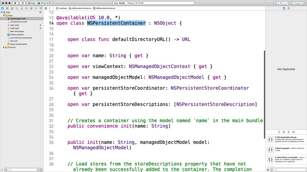 Core Data CRUD (Create, Read, Update, Delete) Essentials Swift 4 + Simple  App