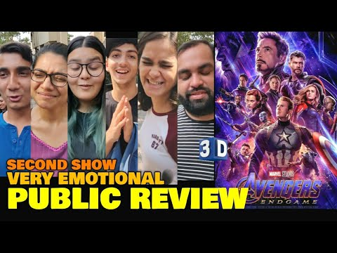 Avengers Endgame SECOND SHOW Public Review | Emotional Review | Marvel Studios | Hollywood | India