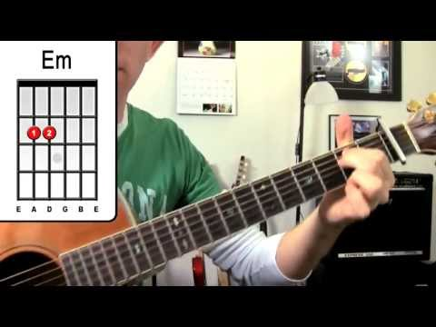 Party Rock Anthem - LMFAO Guitar Lesson - How To Play Easy Beginner Chords Acoustic Song