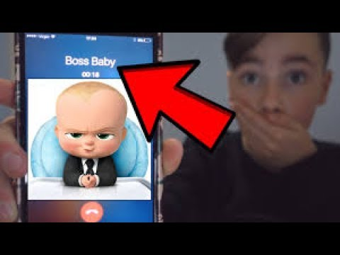 CALLING THE BOSS BABY! HE ANSWERED OMG (Durv re-upload)