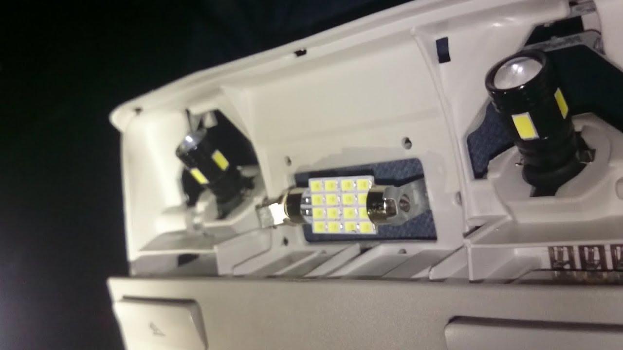 Volkswagen Passat B6 Interior Front Overhead Light Bulb Change Wiring A Installing T10 High Power White Led