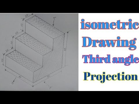 how to draw orthographic projection, isometric | by iti ed hindi
