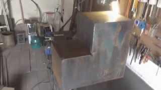 банная печь из металла своими руками печь для бани(Эта банная печь будет установлена на бетонный фундамент, вытяжная труба будет кирпичной. Все модели банная..., 2015-07-11T16:07:06.000Z)