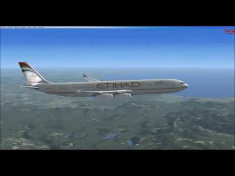 FSX: Bahrain to Dublin with an A340-300