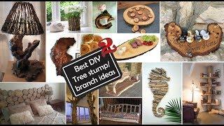 Ideas de Decoración con Ramas y troncos 2/Best DIY Tree stump…