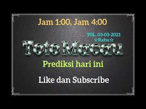 Toto Macau Prediksi   Rabu    03-03-2021   Jam 13:00,16:00 Joss Rumus   TTM @TogelMasterPrediksi