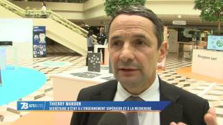 Innovations : le Ministre de la Recherche découvre le nouveau site de Bouygues