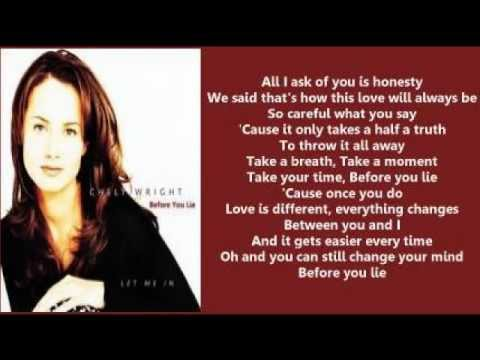 Chely wright before you lie