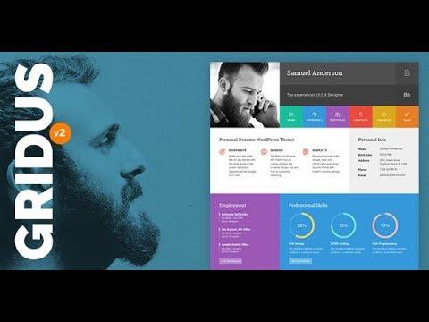 Gridus Resume WordPress Theme Manual | 01 - Theme And Demo Installation