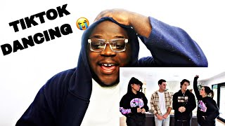 Learning Tik Tok Dances From Larray & Addison Rae (REACTION) Dolan Twins