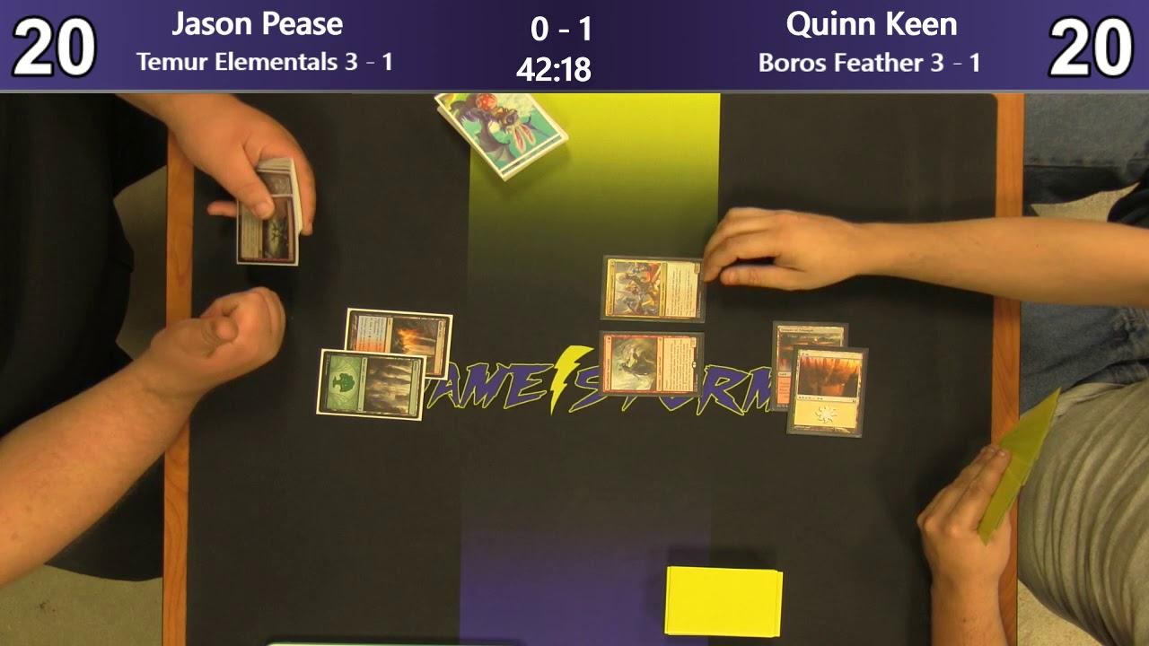 Jason Pease (Temur Elementals) vs Quinn Keen (Boros Feather