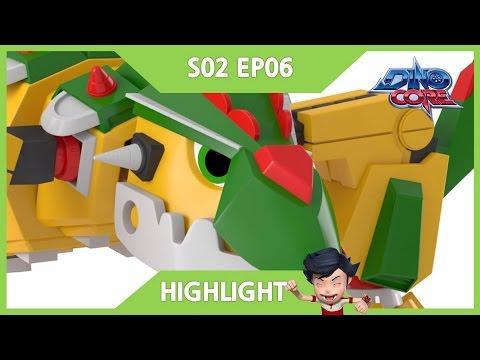 [DinoCore] Highlight | Car Race to Deliver a  Pizza | Dinosaur Robot | Season 2 EP06