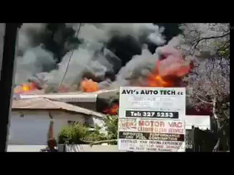 Paint Factory on Fire in Pretoria West,south Africa