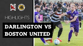 Darlington 1-0 Boston United - Vanarama National League North - 2018/19