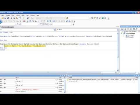 Visual Basic 2008 - Error Handling