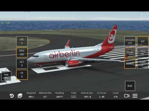Air Berlin 737-700 LAX take off