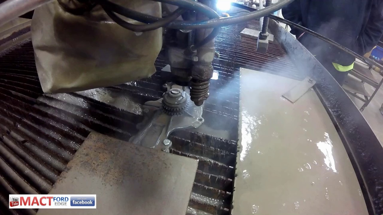 Cutting A Ford Edge Water Pump In Half