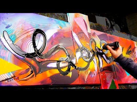 Abstract Painting Acrylics   using brush and pallet knife   Talisman   John Beckley