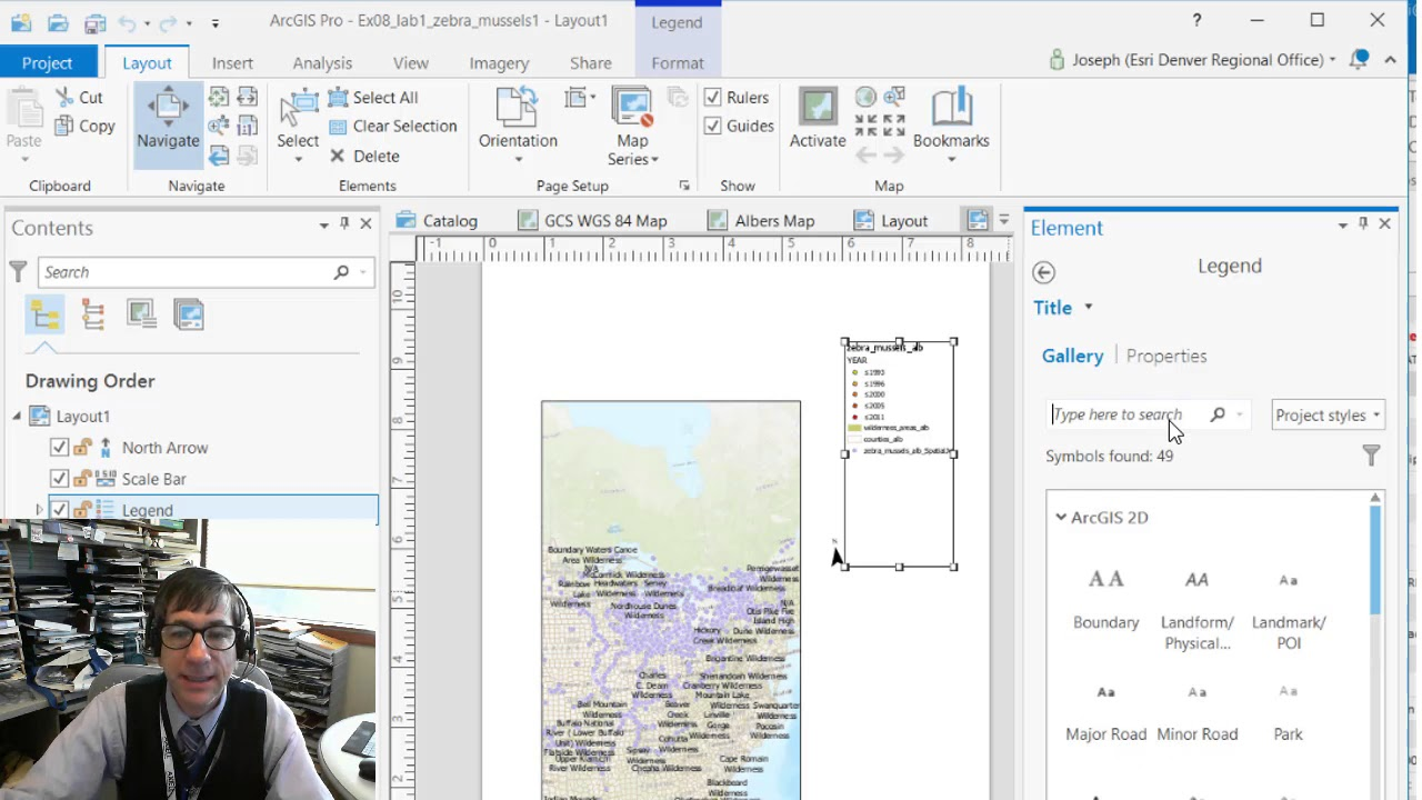 How to adjust the legend in ArcGIS Pro