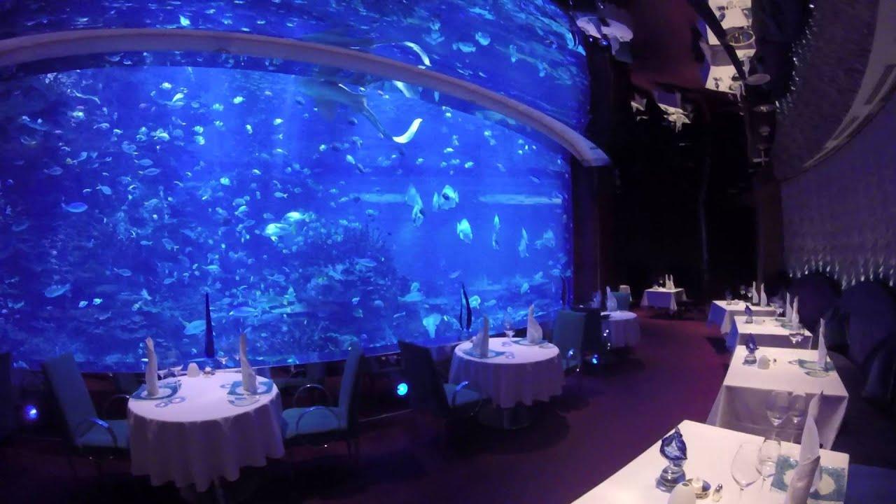 burj al arab underwater restaurant gopro 4 youtube