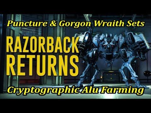 Warframe Farming x27 Razorback Puncture Mods set & Gorgon Wraith Set - Eidolon captures