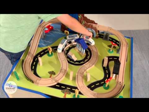 Rapid Waterfall Train Set & Table by KidKraft - YouTube