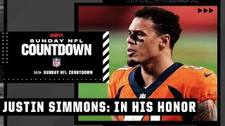 Justin Simmons: In His Honor   Sunday NFL Countdown